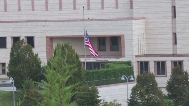 vídeos y material grabado en eventos de stock de turquia y estados unidos anunciaron el jueves la reanudacion total de sus servicios de visado tras ser suspendidos en octubre luego de que un... - ee.uu