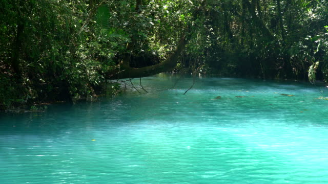 ws turquoise colored rio celeste - turquoise coloured stock videos & royalty-free footage