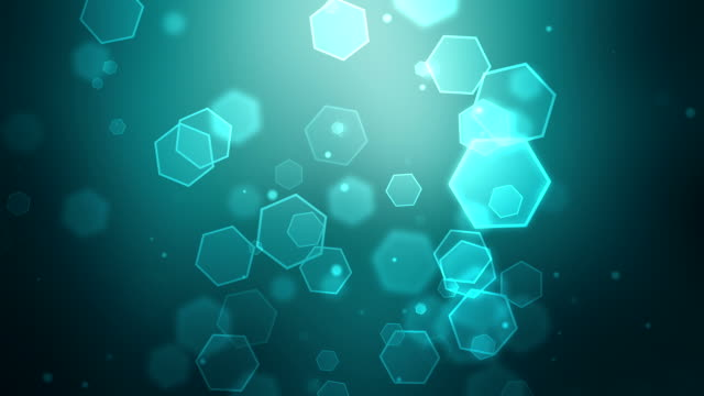 turquoise hexagon background loopable - turquoise colored stock videos & royalty-free footage