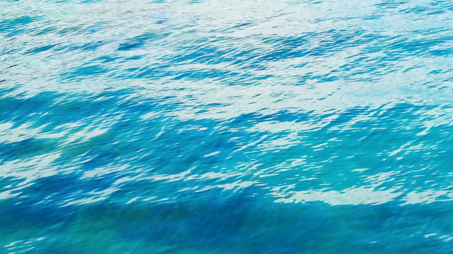 turquoise sea surface with waves