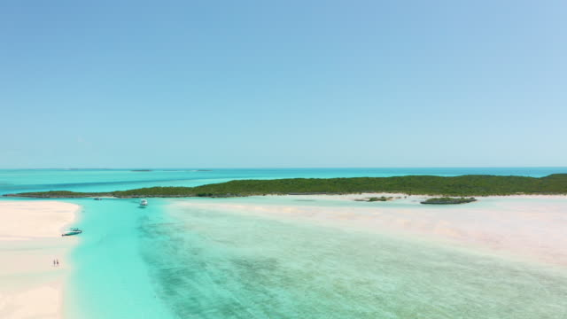 turquoise water, beaches and islands - mar dei caraibi video stock e b–roll