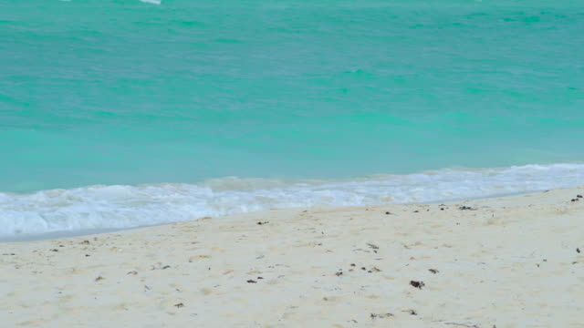 Turquoise Water of Flamenco Beach, Surf Close-up, Cayo Coco, Cuba