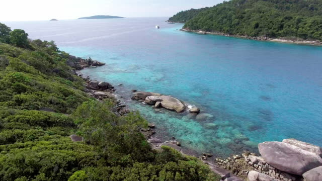 turquoise water of the similan islands, thailand - david ewing stock videos & royalty-free footage