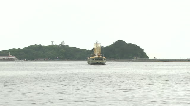 ms zi turtle ship sightseeing tourboat flowing in 2012 yeosu world expo korea / yeosu, jeollanam-do, south korea - tourboat stock videos & royalty-free footage