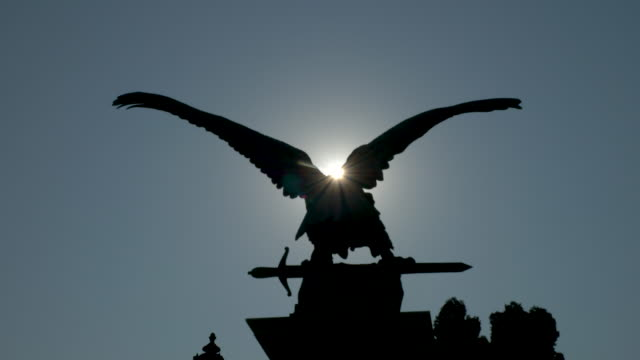 turul bird statue, budapest - traditionally hungarian stock videos & royalty-free footage