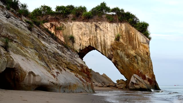 tusan cliff sarawak - natural arch stock videos & royalty-free footage