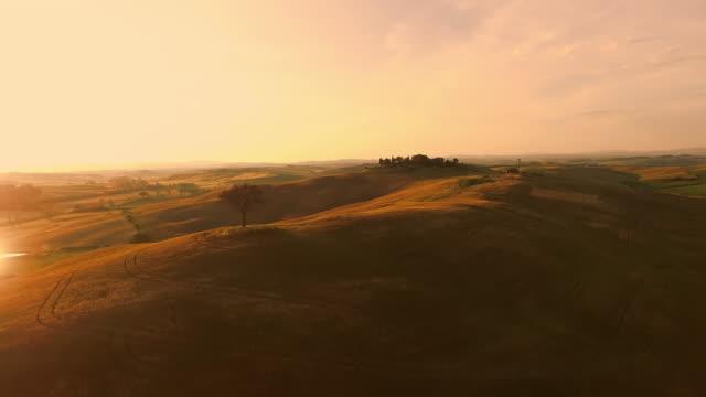 Luftaufnahme der Toskana