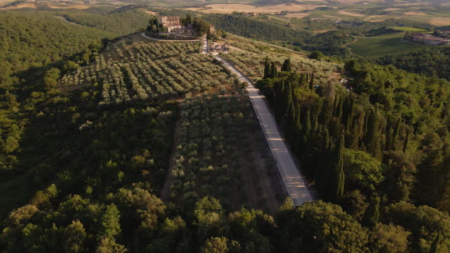 tuscany aerial landscapes - florence italy stock videos & royalty-free footage