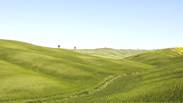 tuscany hills in pienza in summer - tuscany stock videos & royalty-free footage