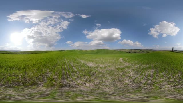 360 vr / tuscany hills - 360 video stock videos & royalty-free footage