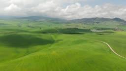 Tuscany, Italy. Aerial drone shot. 4K, UHD