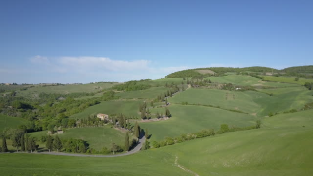 tuscany landscape with green hills - siena italy stock videos and b-roll footage