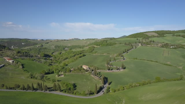 Tuscany landscape with green hills