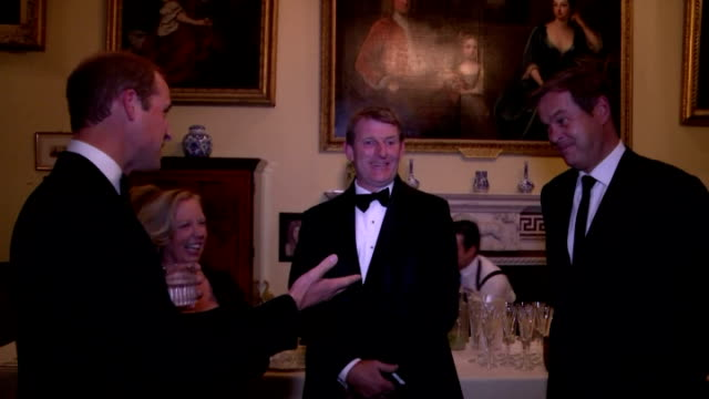 tusk trust royal patron prince william was the guest of honour at the anniversary ball to protect endangered wildlife in africa. shows prince... - 光栄点の映像素材/bロール