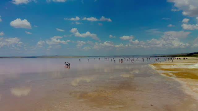 tuz lake (salt lake) scenery / ankara, turkey - ankara stock videos and b-roll footage
