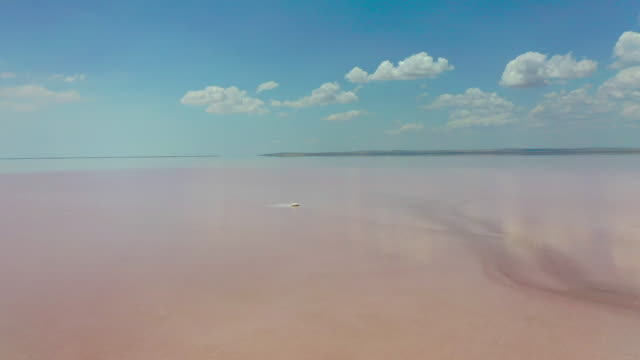 tuz lake (salt lake) scenery / ankara, turkey - salt mineral stock videos & royalty-free footage