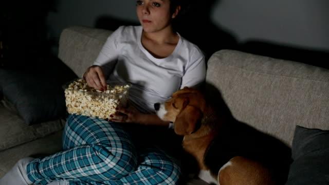 TV en popcorn