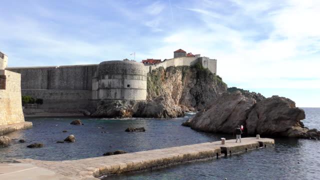 tvrđava bokar - dubrovnik, croatia - fort stock videos & royalty-free footage