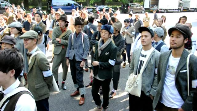 A tweed themed bicycle ride around Tokyo saw around 150 people gather in Scottish sports casual to mark Japan Fashion Week CLEAN Fashion Tweed takes...