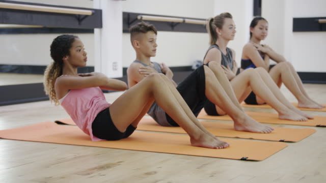 tween and teenagers staying healthy and fit - fatcamera stock videos & royalty-free footage