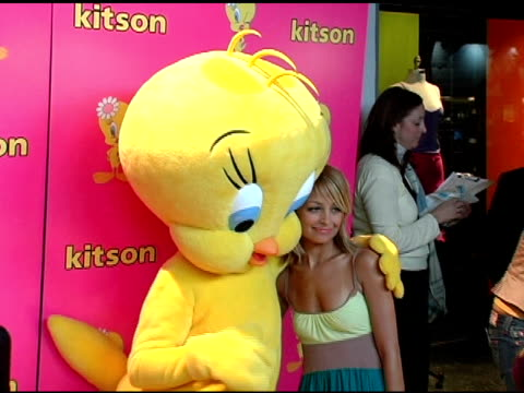 Tweety and Nicole Richie at the Launch of 'Tweety' Collection by Warner Brothers Consumer Products on May 10 2005