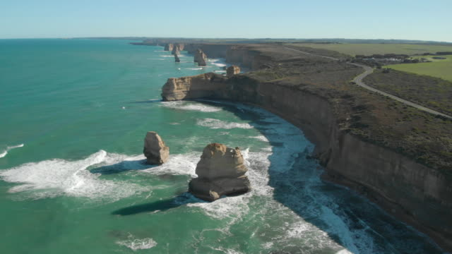 twelve apostles coastline - great ocean road stock videos & royalty-free footage