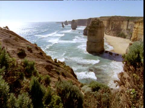 twelve apostles sea stacks, victoria, australia - antarctic ocean stock videos & royalty-free footage