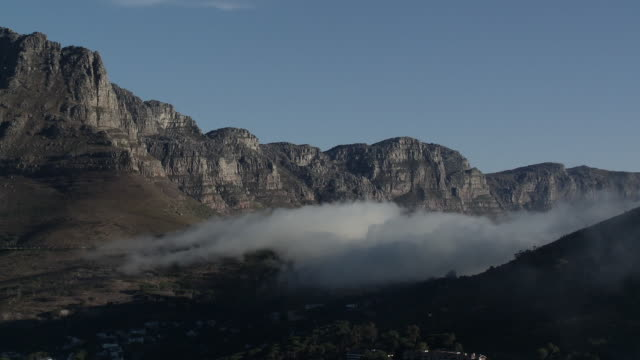 WS Twelve Apostles with mist over Kloof Nek, Cape Town, Western Cape, South Africa