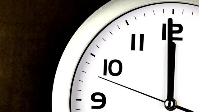 twelve o'clock clock - ticking clock - midday stock videos & royalty-free footage
