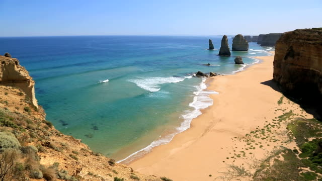 twelves apostles sea rock, australia - great ocean road stock videos & royalty-free footage