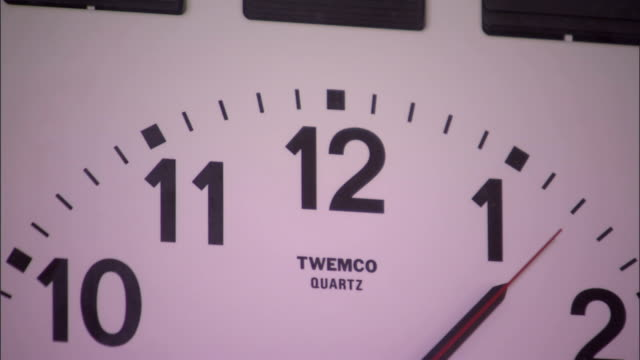 a twemco quartz clock provides time with an analogue display. - quartz stock videos & royalty-free footage