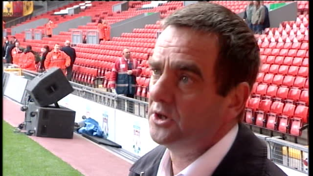twentieth anniversary of hillsborough disaster: peter carney interview; england: liverpool: anfield: ext peter carney interview sot - describes how... - anniversary stock videos & royalty-free footage