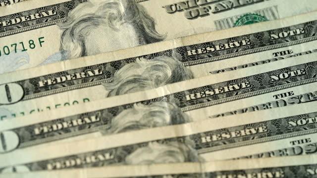 twenty dollar bill close ups - twenty us dollar note stock videos & royalty-free footage
