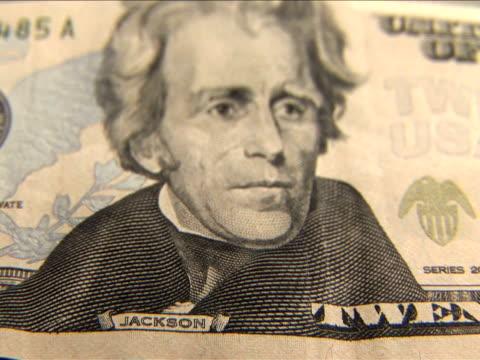 ecu, r/f, twenty dollar bill - twenty us dollar note stock videos & royalty-free footage