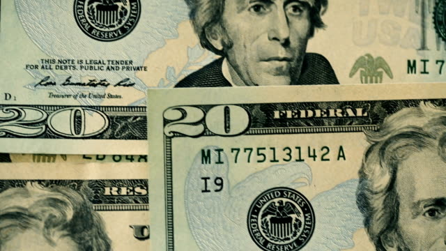 u.s twenty dollar bills close-up details - bundle stock videos & royalty-free footage