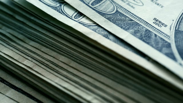 20 US-Dollar fakturiert close-up details