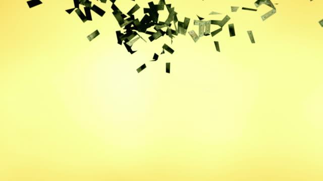 ms, twenty dollar bills falling against yellow background - twenty us dollar note stock videos & royalty-free footage
