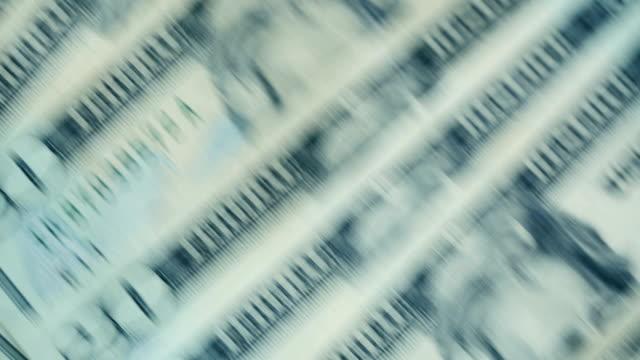 u.s twenty dollar bills fast moving close-up details - bundle stock videos & royalty-free footage