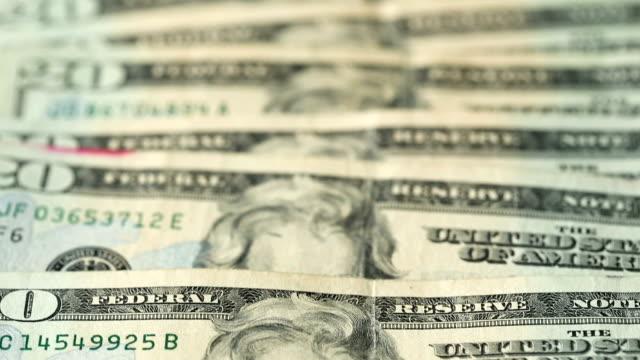 twenty dollar bills - twenty us dollar note stock videos & royalty-free footage
