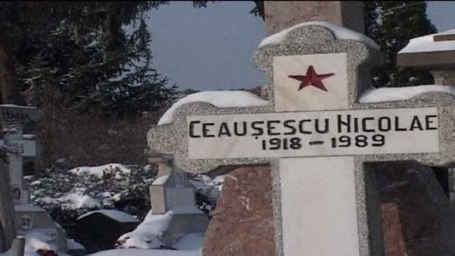 twenty fifth anniversary of the execution of romanian dictator nicolae ceausescu and his wife marking the end of communism after a deadly uprising - 25th anniversary stock videos and b-roll footage