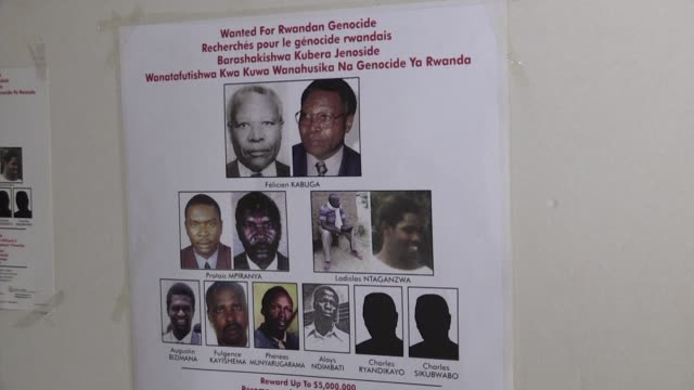 twenty five years after the rwanda genocide investigators and prosecutors are still trying to track down the very worst killers of rwanda's 1994... - staatsanwalt stock-videos und b-roll-filmmaterial