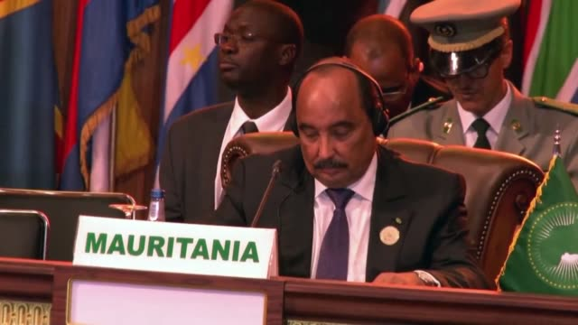 twenty-two african leaders gathered in the mauritanian capital nouakchott, on sunday for the 31th summit of the african union . the summit, which is... - モーリタニア点の映像素材/bロール