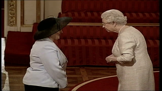 twickenham dinner lady receives mbe - dinner lady stock videos & royalty-free footage
