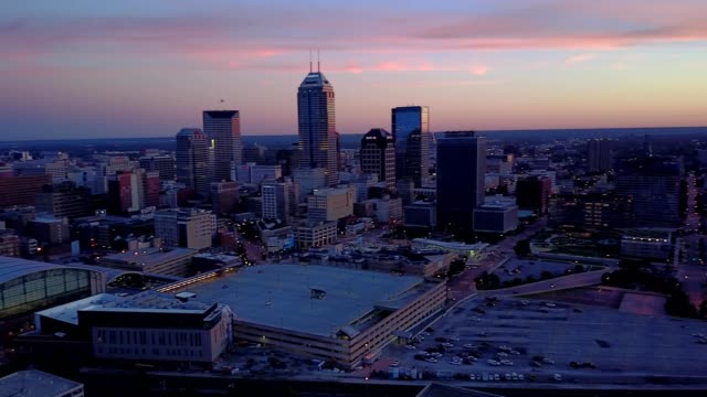 Twilight downtown Indianapolis