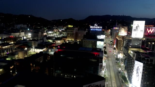 Twilight in Hollywood California