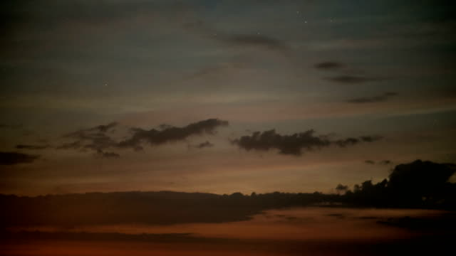 twilight night sky with clouds - ominous stock videos & royalty-free footage
