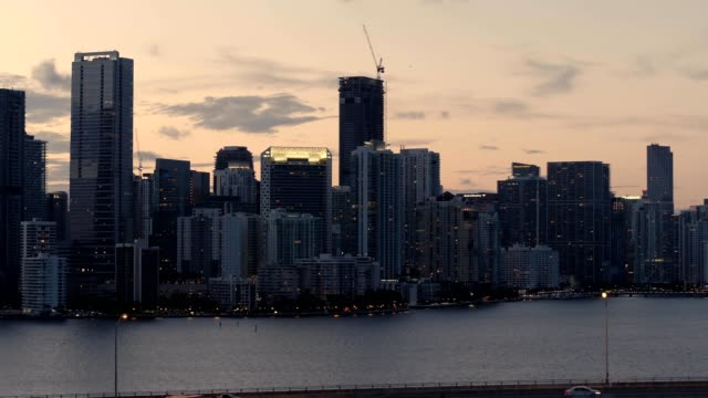 Twilight Over Biscayne Bay and Brickell