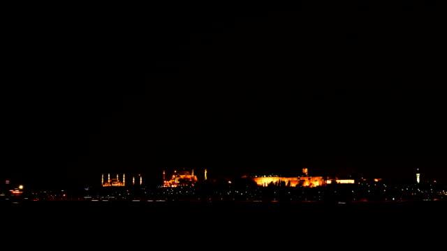 Crépuscule sur Istanbul et le détroit du Bosphore Timelapse
