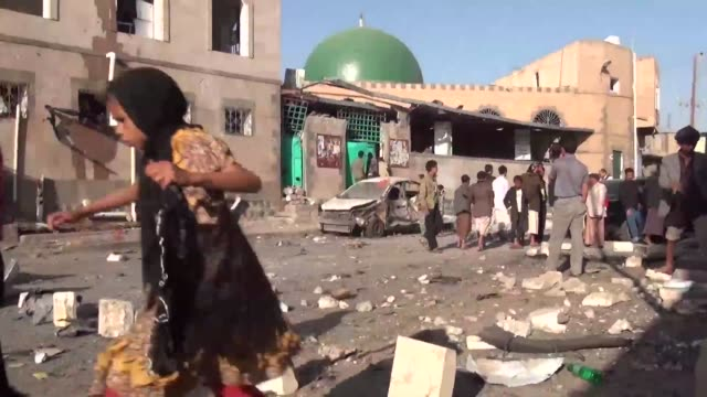 twin bombings claimed by the islamic state group against a shiite mosque in the yemeni capital killed at least 32 people medical sources said in an... - thursday stock videos and b-roll footage
