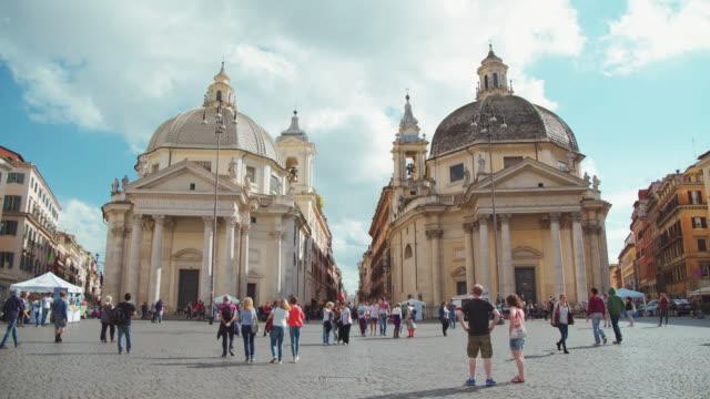 Twin churches at Piazza del Popolo in Rome